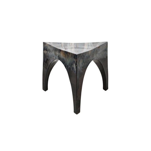 Triangular three-legged studio pottery table or stool. Suitable for indoor and outdoor use. Expertly crafted piece with...