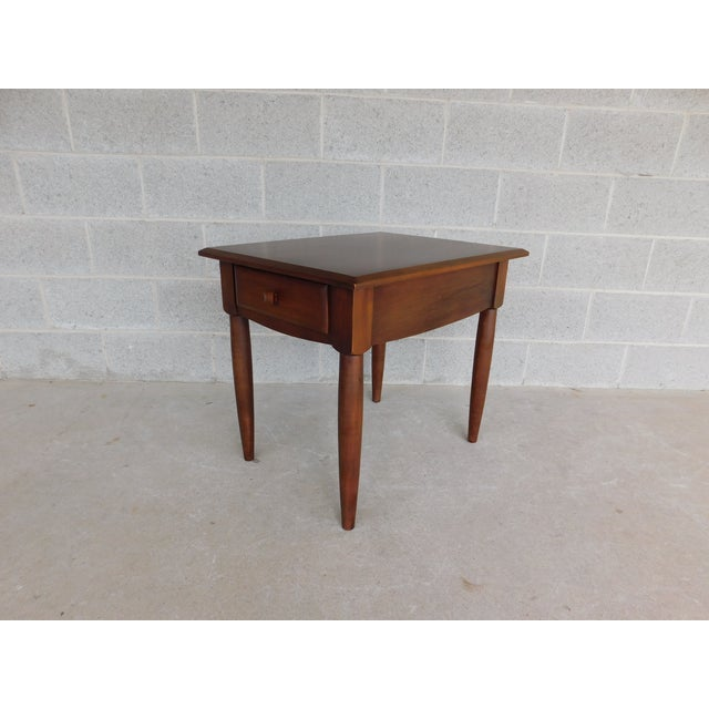 Ethan Allen American Dimension Collection 1 Drawer End Table For Sale - Image 9 of 9