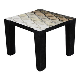"1990s Contempoary Tessellated Stone ""Curves"" Side Table For Sale"