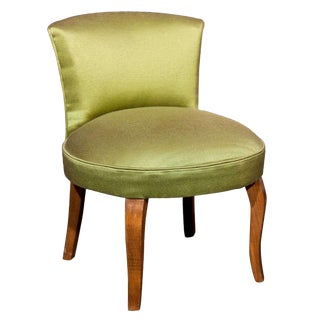 1940s Vintage French Dressing Table Chair For Sale