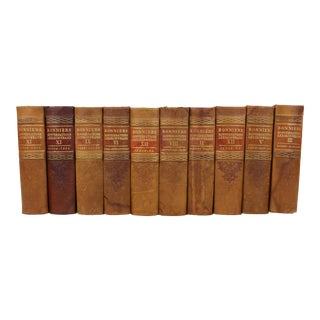 Art Deco Leather-Bound Books - Set of 10