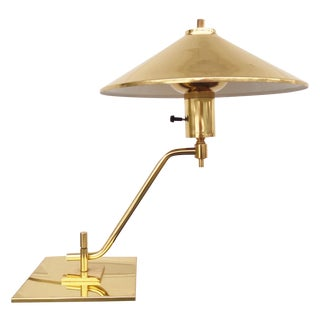 Modernist Brass Desk Lamp