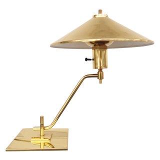 Modernist Brass Desk Lamp