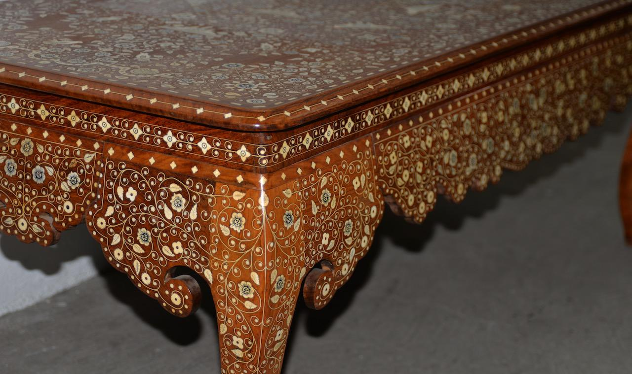 Early To Mid 20th Century Anglo Indian Inlay Coffee Table For Sale   Image  4 Of