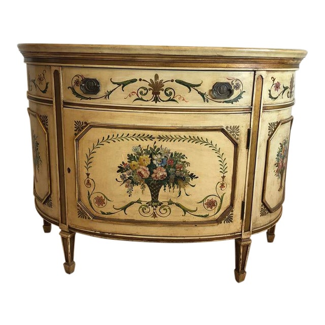 18th Century Style Demilune Cabinet For Sale