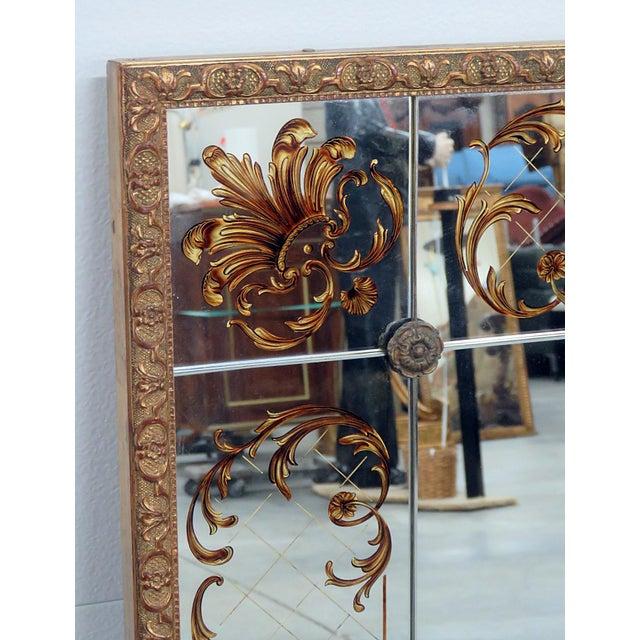 Hollywood Regency Regency Style Eglomise Mirror For Sale - Image 3 of 6