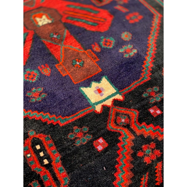 1960s Vintage Persian Bijar Runner Rug - 4′3″ × 11′4″ For Sale - Image 9 of 13