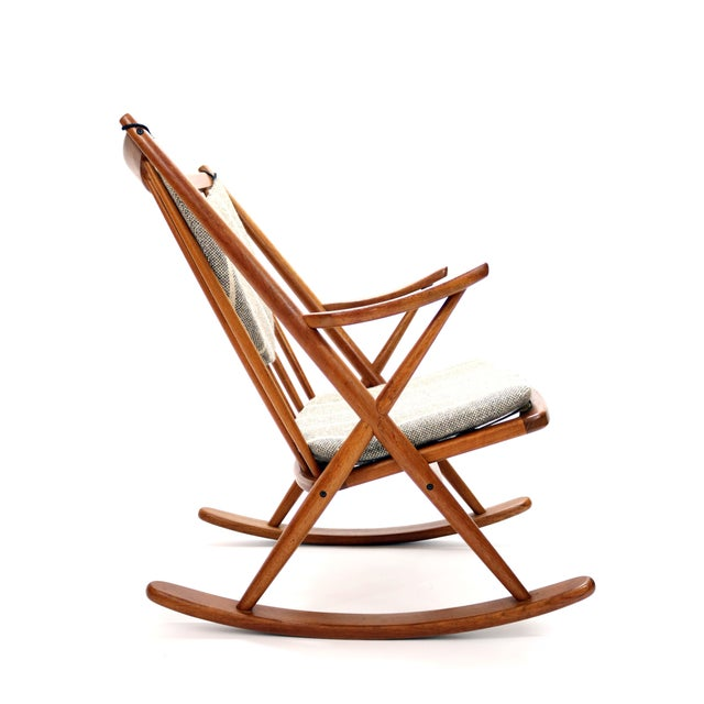 Vintage Frank Reenskaug for Bramin Mobler Danish Teak Rocking Chair For Sale - Image 12 of 12