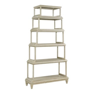 Modern Off-White Luna Etagere For Sale