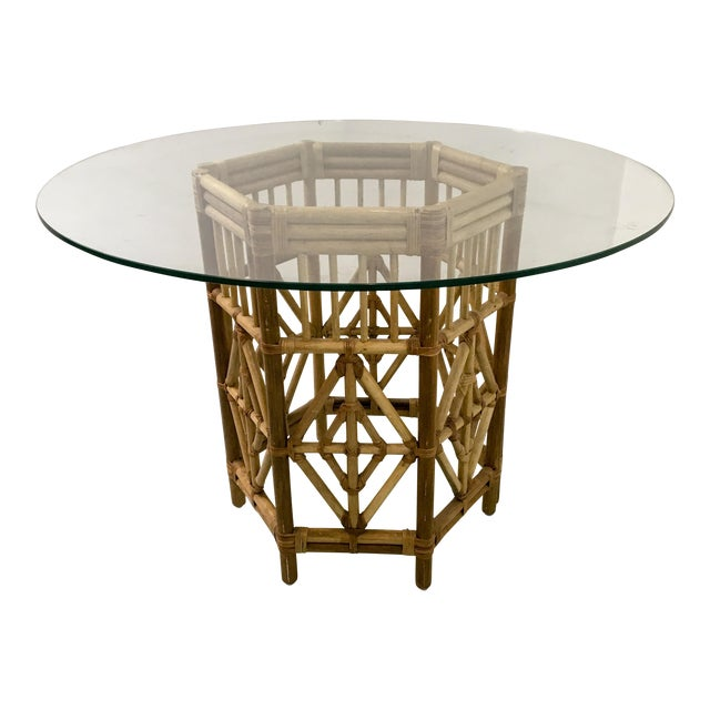 Rattan Consoles or Center Table - A Pair - Image 1 of 5