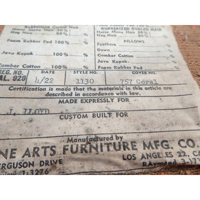 Mid-Century Peachy Slipper Chair For Sale In San Diego - Image 6 of 8