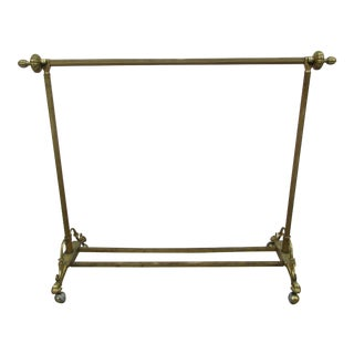 Andre Arbus Style Brass Clasped Hands Quilt Rack or Valet For Sale