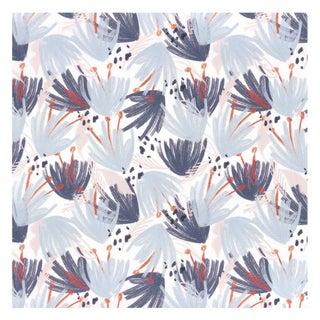 Pepper Eden Blue Wallpaper - 5 yards For Sale