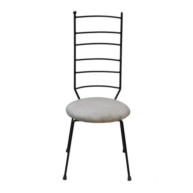 Iron Ladder Back Patio Dining Chairs, S/4 For Sale - Image 6 of 9