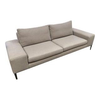 Modern DellaRobbia Gray Tucker Sofa For Sale