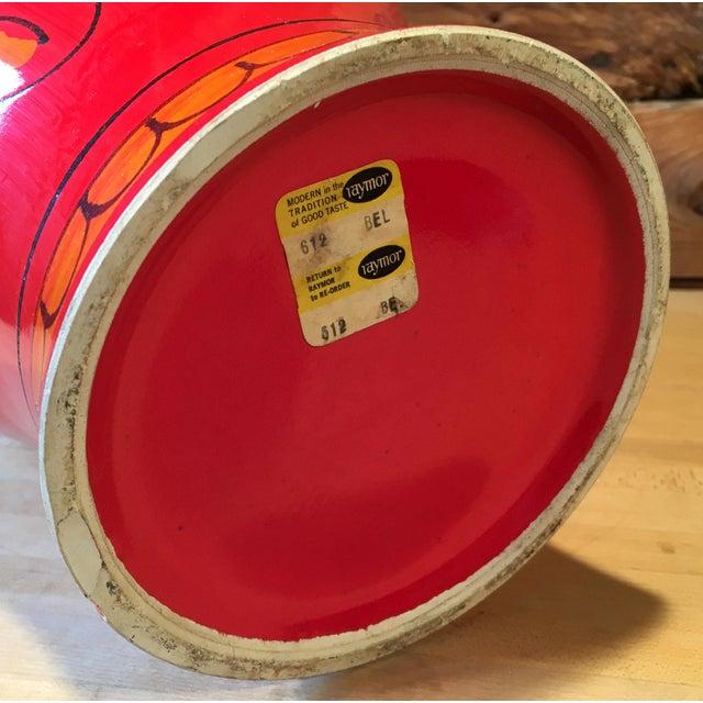 Ceramic Bellini for Raymor Red Pottery Floor Vase For Sale - Image 7 of 7