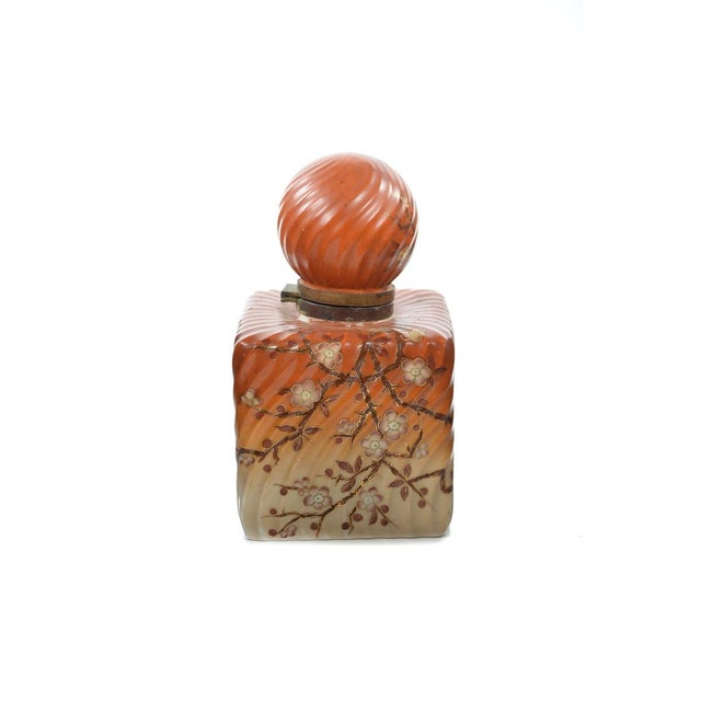 19th Century Painted Porcelain Inkwell Bottle For Sale In Los Angeles - Image 6 of 9