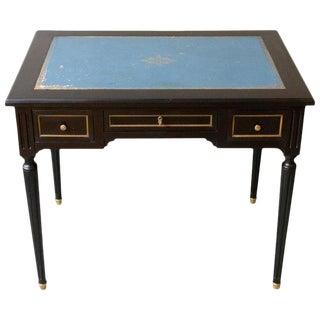 1920s French Ebonized Mahogany Writing Desk For Sale