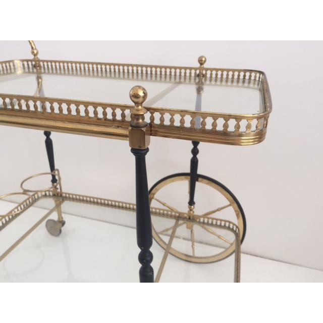 French Bar Cart From the 1940's For Sale In West Palm - Image 6 of 10