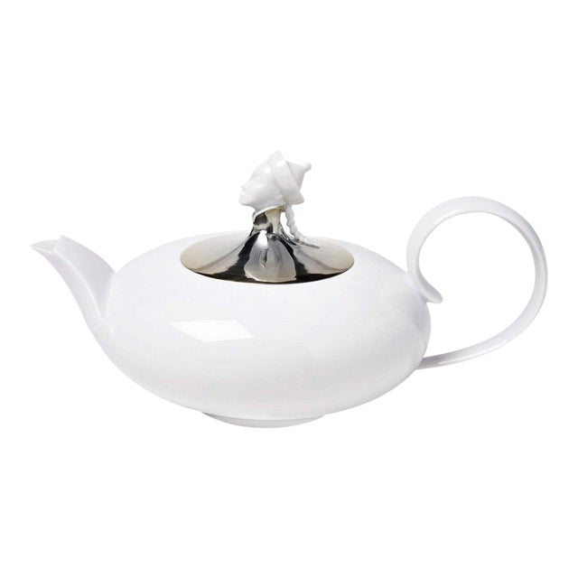 """Orient Chinese"" Teapot with Platinum Lid by Ena Rottenberg For Sale"