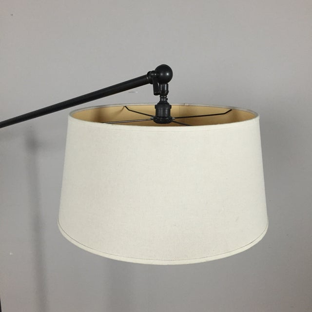 Pottery Barn Polished Brass Floor Lamp - Image 3 of 8