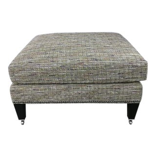 Highland House Sills Ottoman With Casters For Sale