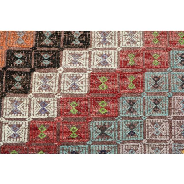 Vintage Turkish Kilim Rug-6′ × 12′8″ For Sale - Image 10 of 13