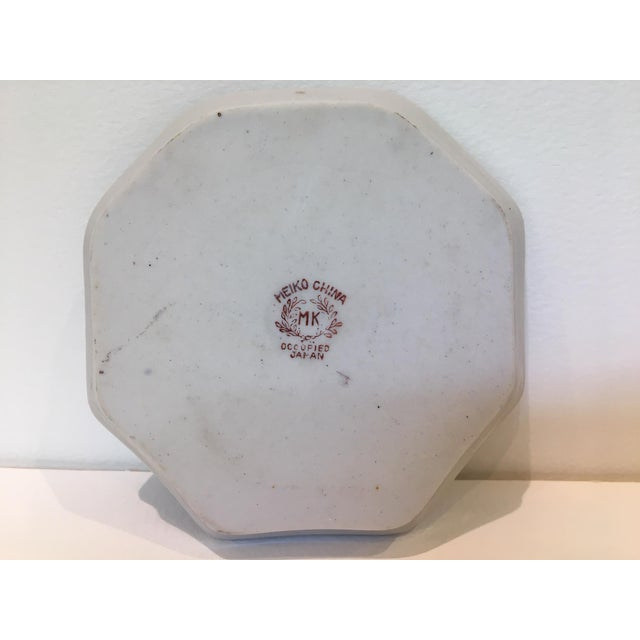 Octagonal China Vide-Poche/Coin Dish For Sale In Washington DC - Image 6 of 7