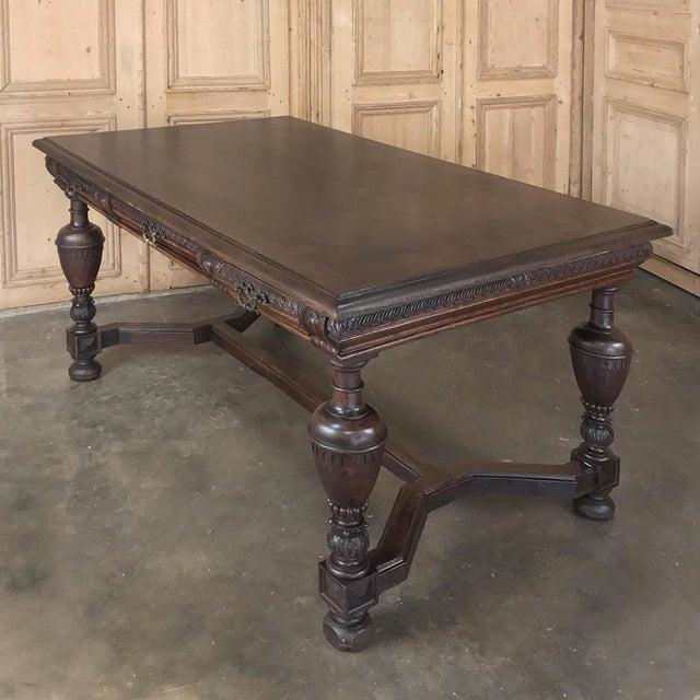 Gold 19th Century French Renaissance Desk ~ Bureau Plat For Sale - Image 8 of 13