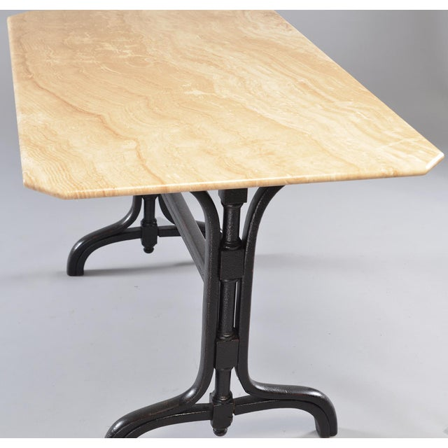 Pub Table With Marble Top and Ebonised Bentwood Base For Sale - Image 10 of 12