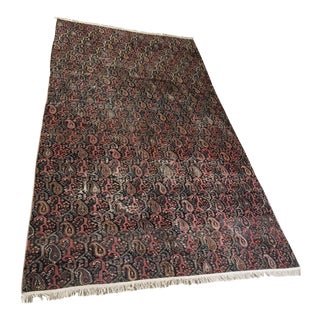 "Vintage Hand Knotted Turkish Rug - 7'2"" x 12'2"""