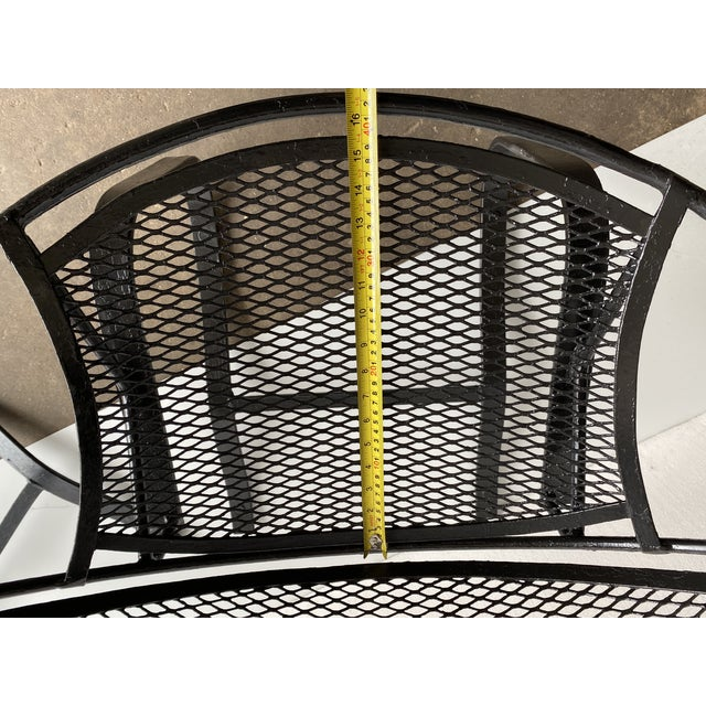 Metal 1950s Vintage Salterini Radar Bouncer Wrought Iron Chairs - a Pair For Sale - Image 7 of 9
