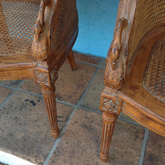 Pair of Louis XVI Style Armchairs For Sale - Image 10 of 13