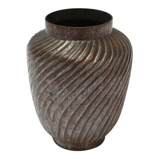 Antique Asian Copper Vase For Sale