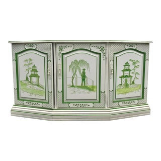 Chinoiserie Painted Cabinet For Sale