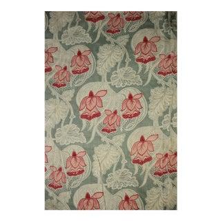 French Fabric Art Nouveau Cretonne Cotton Curtain For Sale