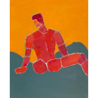 """""""Untitled Male"""" Abstract Oil Painting on Canvas by Bill Tansey For Sale"""