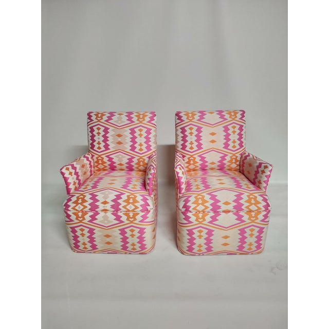 1920s Bright Geometric Arm Chairs - a Pair For Sale - Image 10 of 11
