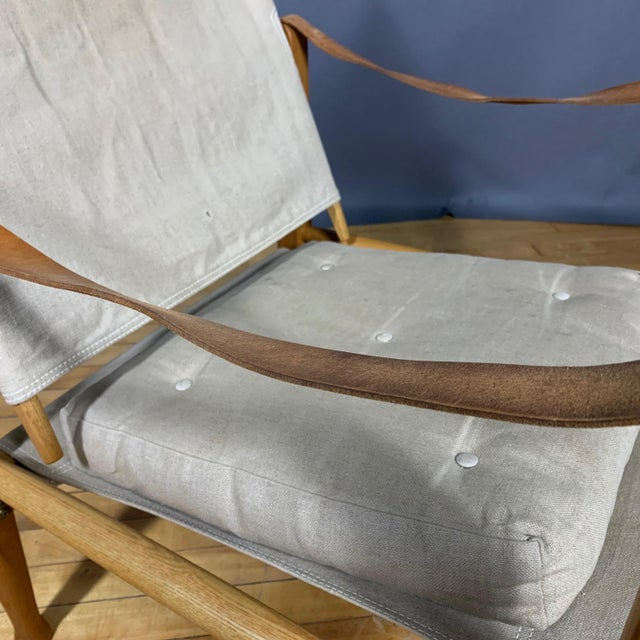 Kaare Klint Safari Chair, Rud Rasmussen, Denmark For Sale - Image 9 of 11