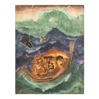 'Noah's Ark' by Liber Fridman, Mid-Century Argentine Outsider Artist, Buenos Aires Modern Art Museum For Sale