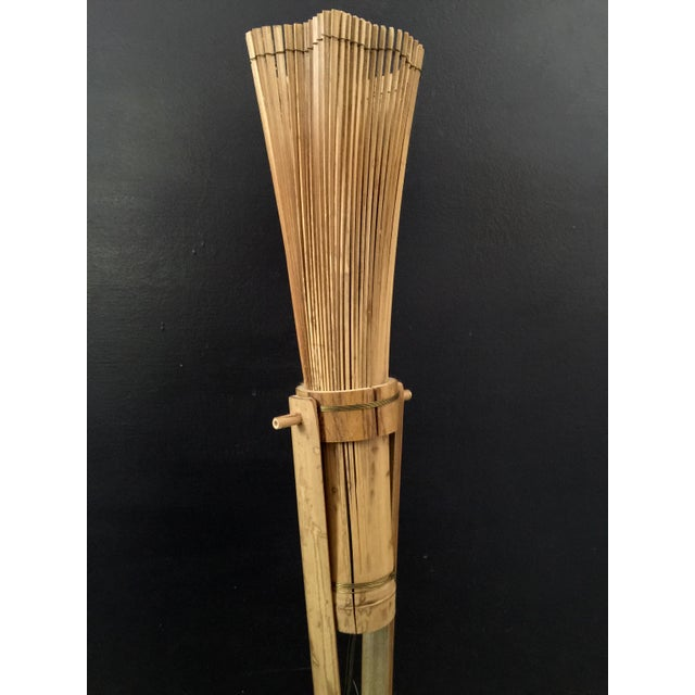 Vintage Bamboo Tiki Floor or Desk Lamp - Image 3 of 7