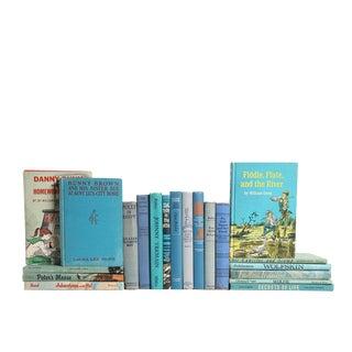 Juvenile Book Set in Ocean Blue - Set of Twenty Decorative Books