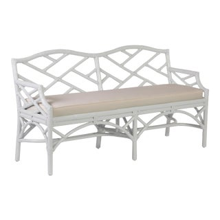 Chippendale Bench - White For Sale
