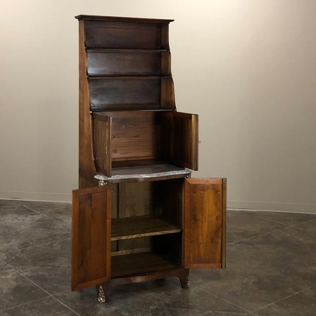 Late 19th Century 19th Century Country French Blonde Walnut Cabinet For Sale - Image 5 of 13