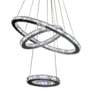 Pasargad Ring Crystal Pendant Lights Modern Chandelier For Sale