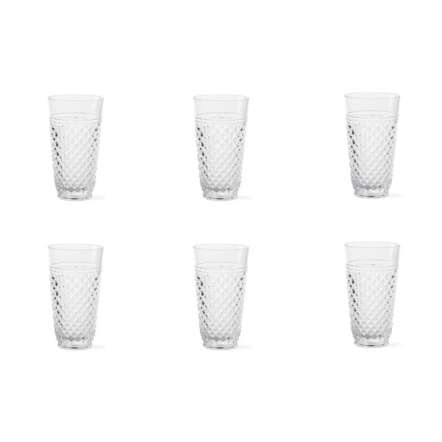 Kenneth Ludwig Chicago Villa Acrylic Highball Glasses - Set of 6 For Sale - Image 4 of 4
