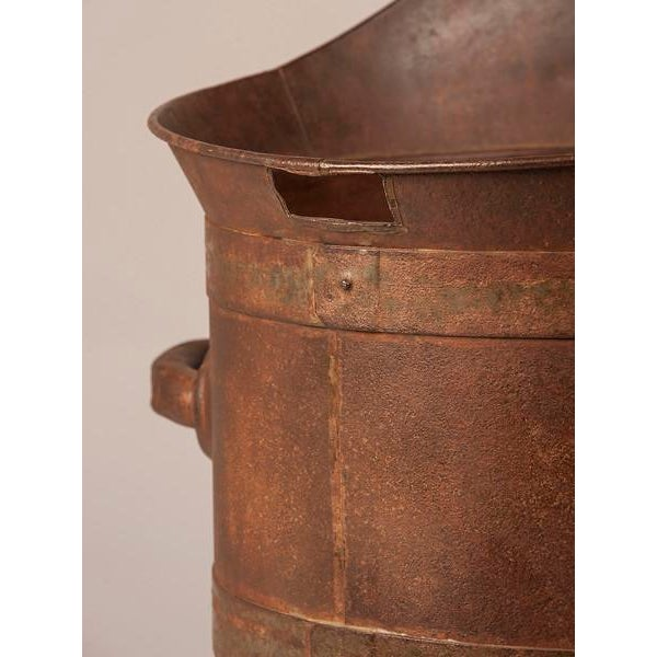 19th Century Enormous French Iron Wine Jug with Raised Handles For Sale - Image 10 of 11