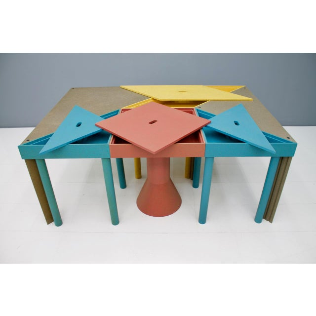 1980s Set of Six Tangram Tables by Massimo Morozzi for Cassina, 1983 For Sale - Image 5 of 11