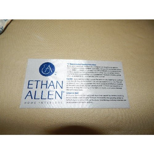 Ethan Allen Blue and White Floral Avery Chair - Image 6 of 6