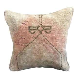 Turkish Oushak Handmade Wool Pillow Case For Sale
